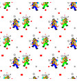 seamless pattern in april fools day and stupid vector image