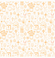 seamless pattern with easter doodle sketches vector image vector image