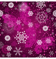 Seamless purple gradient pattern with snowflakes vector image vector image