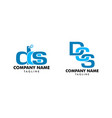 set dcs letter initial logo template vector image vector image