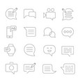 set message related line icons sms vector image
