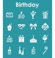 Set of birthday simple icons