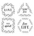 set of boho style frames vector image vector image