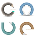 set of icons in shape penci vector image vector image