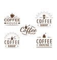 set of vintage coffee logo templates vector image vector image