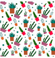 succulent pattern flat style vector image
