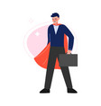super man in red waving cape standing vector image vector image