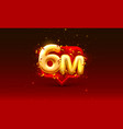thank you followers peoples 6m online social vector image