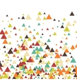 triangle abstract halftone colour vector image vector image