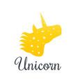 unicorn head over white vector image