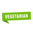 vegetarian speech bubble vegetarian ribbon sign vector image vector image