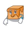 waiting caramel candies mascot cartoon vector image vector image
