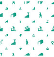 walk icons pattern seamless white background vector image vector image