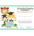 Diploma Certificate Template With Modern Pattern vector image