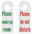 Door hangers vector image