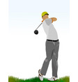 golf players vector image