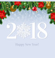 2018 happy new year card vector image vector image