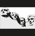 4 presidents at mount rushmore national memorial vector image vector image