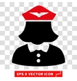 Airline Stewardess Eps Icon vector image