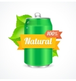Aluminum Can Natural Concept vector image vector image