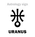 astrology planet uranus vector image vector image