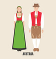 austrians in national dress vector image