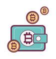 bitcoin virtual wallet vector image