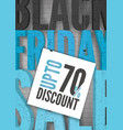 black friday price reduce realistic banner vector image vector image
