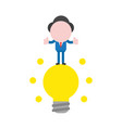 businessman character standing on glowing light vector image vector image