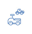 cars toys line icon concept cars toys flat vector image