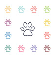 cat footprint flat icons set vector image vector image