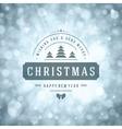 Christmas greeting card lights and snowflakes vector image vector image