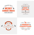 christmas typography with white background vector image vector image