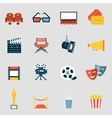Cinema icons flat vector image