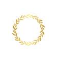 circle golden gradient laurel wreath in flat style vector image