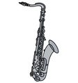 Classic silver saxophone vector image
