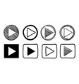 collection player button icon sign vector image vector image