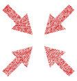 compress arrows fabric textured icon vector image vector image