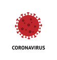 coronavirus bacteria cell flat icon vector image