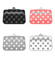 cosmetic bag icon in cartoon style isolated on vector image