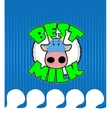 Cow gets a milk bath vector image vector image