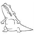 crocodile fat cartoon line drawing vector image vector image