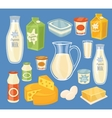 Dairy products isolated vector image vector image