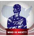 Digital usa election with who is next vector image vector image