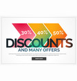 discount background with offer details vector image vector image