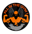 Everyone in the gym vector image
