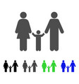 family child icon vector image vector image