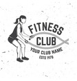 fitness club badge vector image vector image