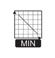 Flat icon in black and white economic graph vector image vector image