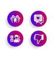 friends chat opinion and wash hands icons set vector image vector image